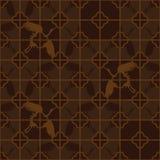 Chinees venster vier kraan bruin oud naadloos patroon vector illustratie