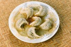 Chinees voedsel, bollen Potstickers Royalty-vrije Stock Fotografie