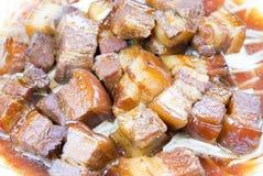 Chinees voedsel, gesmoord varkensvlees Royalty-vrije Stock Foto's