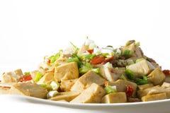 Chinees voedsel - Gesmoorde Tofu stock foto