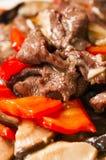 Chinees voedsel--Paddestoel en rundvlees Royalty-vrije Stock Foto's