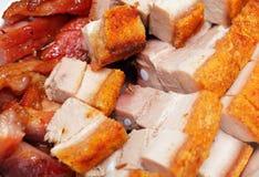 Chinees voedsel, siu mei Stock Foto