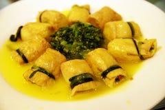 Chinees voedsel -- tofu royalty-vrije stock afbeeldingen