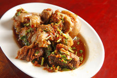 Chinees voedsel, varkensvleesmaaltijd royalty-vrije stock foto's