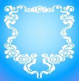 Chinees wolkenframe Vector Illustratie