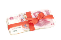 Chinees Yuan Money Gift Royalty-vrije Stock Afbeelding