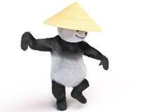 Chineese快乐的字符熊猫蓬松女用连杉衬裤 免版税库存图片