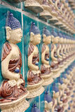 Chineese buddha wall art. Beijin, China Stock Image