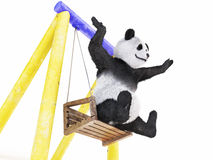Chineese cheerful character panda fluffy animal Royalty Free Stock Image
