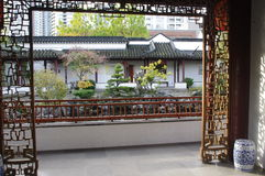 Chineese garden. Chinese architecture in China town, Vancouver, Canada Stock Image
