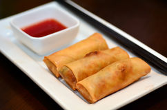 Chines food - Egg rolls Royalty Free Stock Image