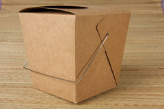 Chines food to go. Brown chinese food to go container royalty free stock photos