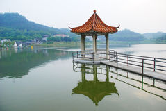 A Chines pavilion in the lake Royalty Free Stock Photography