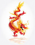 Chines red dragon Royalty Free Stock Photos