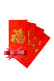 Chines Red Envelope on white Stock Photography