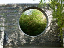 Chines style moon gate Royalty Free Stock Photo