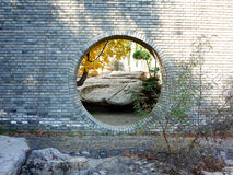 Chines style moon gate Stock Photo
