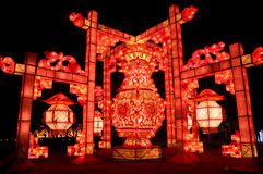 Chines traditional lantern. In festival days Royalty Free Stock Photo