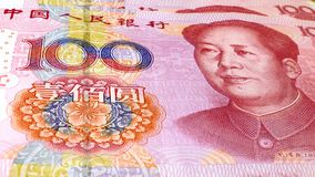 Chinese 100 Yuan Notes Stock Photos