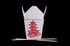 Chinese. Food container with chopsticks Royalty Free Stock Photography