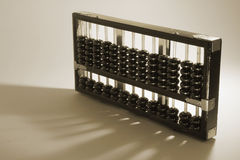 Chinese Abacus. In Sepia Tone Stock Image