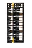 Chinese abacus. Isolated on white background Royalty Free Stock Photos
