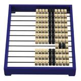 Chinese abacus isolated on white background Stock Photos