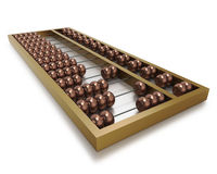Chinese abacus with metal beads and frame Stock Image