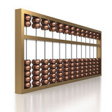 Chinese abacus with metal beads and frame Royalty Free Stock Image