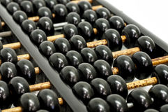 Chinese abacus  on white Royalty Free Stock Image