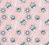 Chinese achtergrond met bloemen Naadloos patroon vector illustratie