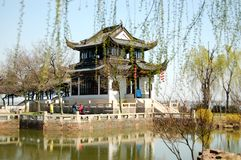 Chinese acient house. A chinese ancient architecture,probably in Qing Dynasty Royalty Free Stock Image