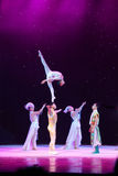 Chinese Acrobats in Beijing Stock Photo