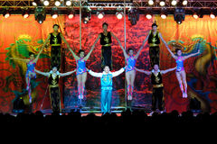 Chinese Acrobats Of Hebei Stock Images