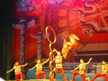 Chinese acrobats Royalty Free Stock Images