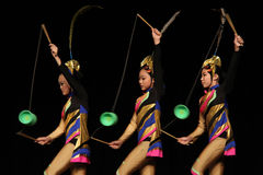 Chinese Acrobats Royalty Free Stock Image