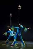 Chinese acrobats. Shantu Acrobatics Troupe. Royalty Free Stock Photos