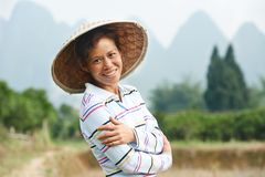 Chinese agricultural farm worker Royalty Free Stock Photography