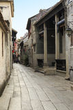 Chinese alley with stone paved road, small side street in countryside in China Stock Photography