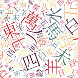 Chinese alphabet background Royalty Free Stock Photography