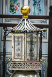 Chinese Altar Burning a Candle royalty free stock images