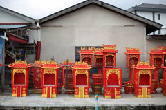 Chinese altar house factory Stock Photos