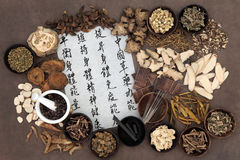 Chinese Alternative Medicine Stock Photo