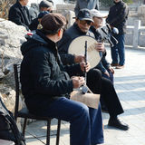 Chinese amateur musician. In park photoed in xigu park Tianjin China on March 9th 2014 Royalty Free Stock Photos