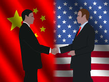 Chinese American meeting Royalty Free Stock Photography