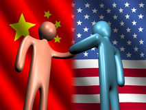 Chinese American meeting Royalty Free Stock Image