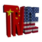 Chinese American trade Royalty Free Stock Photo