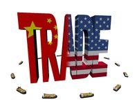 Chinese American trade with ships Royalty Free Stock Photo