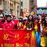 Chinese Americans parade at the Chinese New Year Festival Stock Image