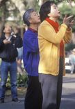 Chinese Americans practicing Tai Chi. North Beach, Can Francisco, CA Royalty Free Stock Photography